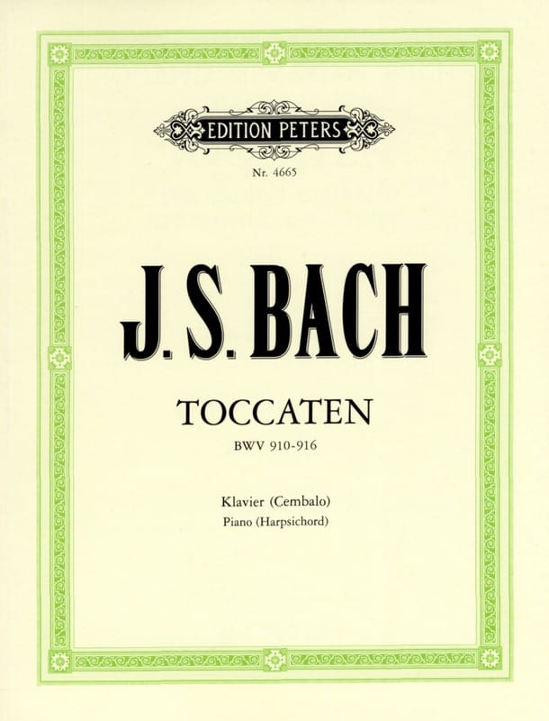 7 Toccaten BWV 910-916 - BACH - Partition - Piano - laflutedepan.com