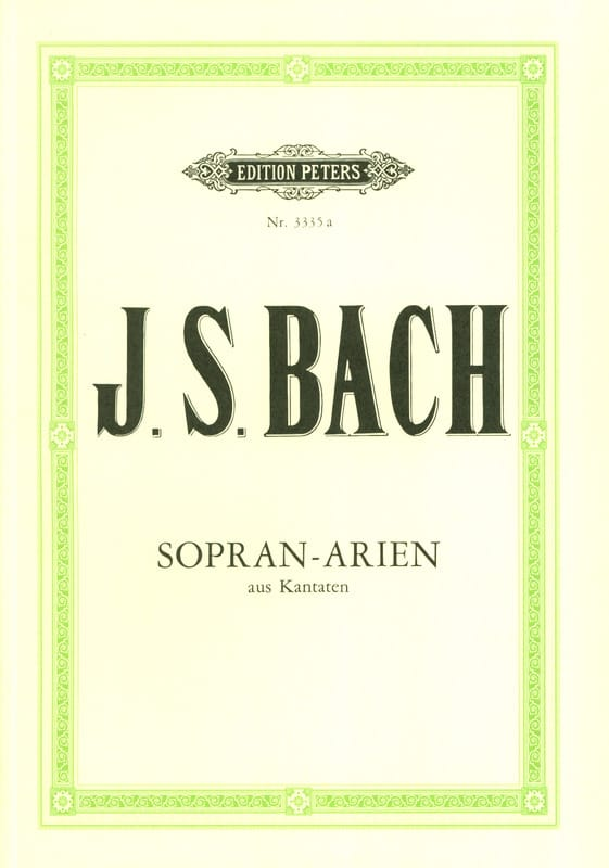 BACH - 15 Cantata Airs para Soprano - Partition - di-arezzo.es
