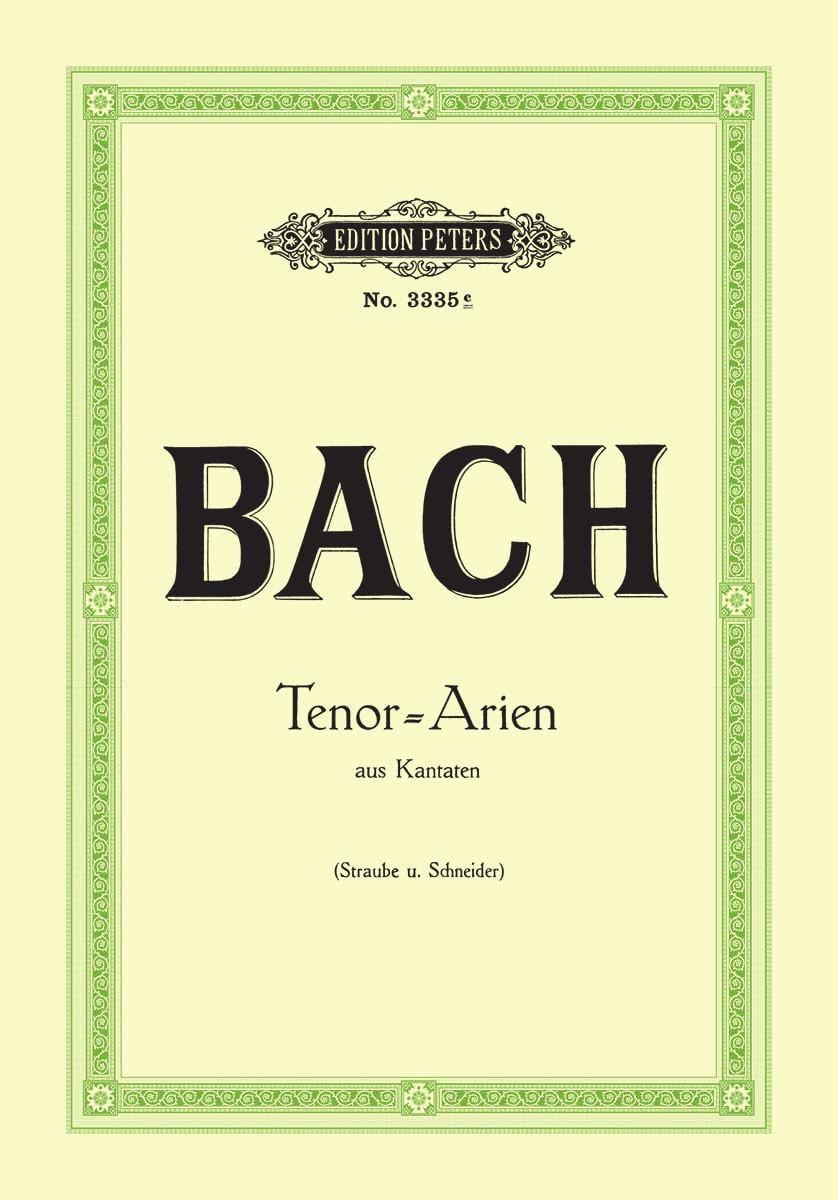 BACH - 15 Tunes of Cantatas for Tenor - Partition - di-arezzo.co.uk