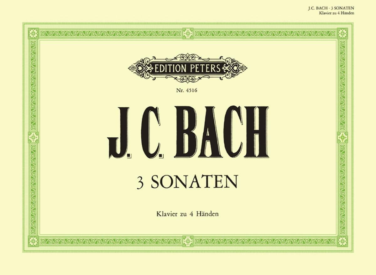 3 Sonates. 4 Mains - Johann Christian Bach - laflutedepan.com