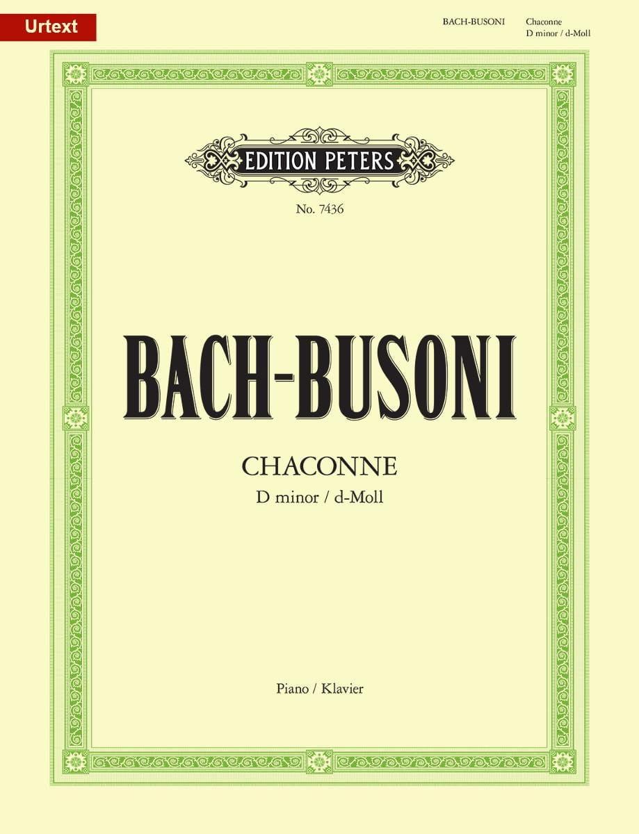 Bach Jean-Sébastien / Busoni Ferruccio - Chaconne BWV 1004 - Partition - di-arezzo.com