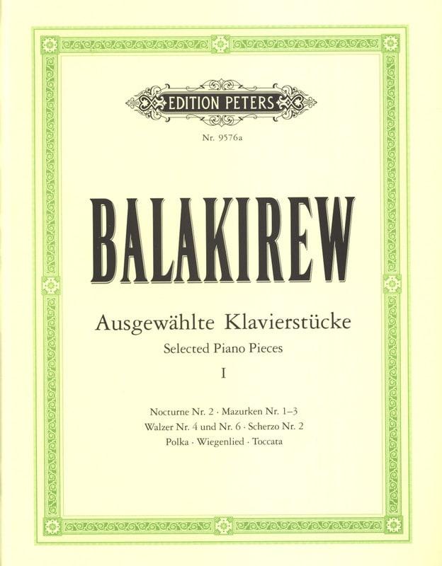 Pièces Choisies Volume 1 - Mili Balakirev - laflutedepan.com