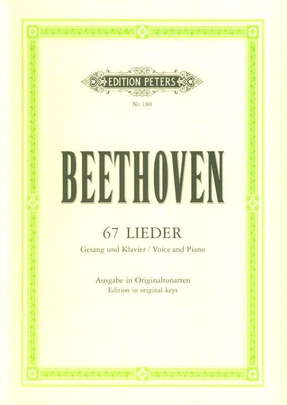 67 Lieder - BEETHOVEN - Partition - Mélodies - laflutedepan.com