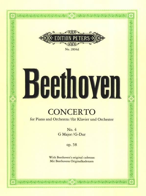 Concerto Pour Piano N°4 Opus 58 En Sol Majeur - laflutedepan.com