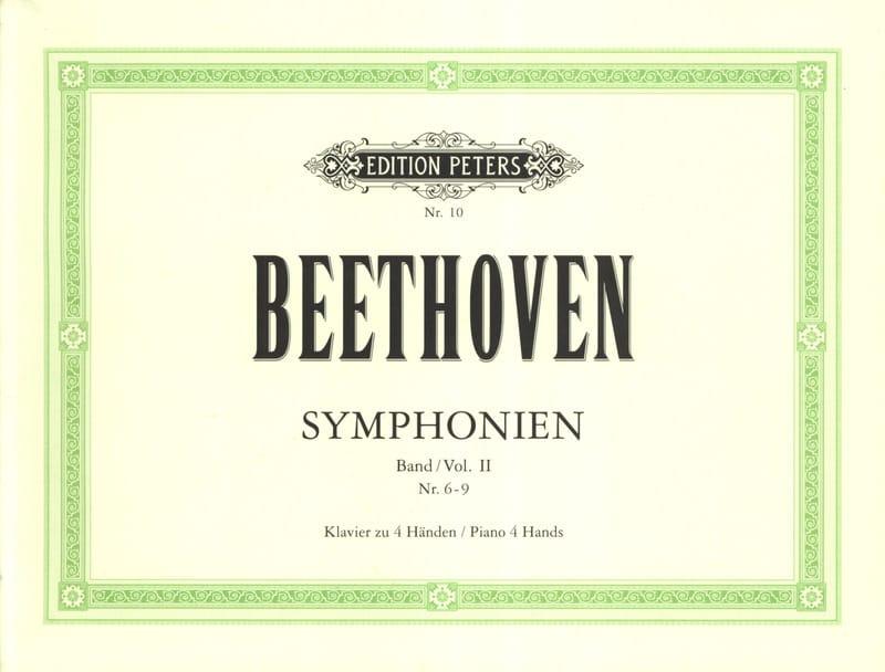 Symphonies n°6 à 9. 4 Mains - BEETHOVEN - Partition - laflutedepan.com