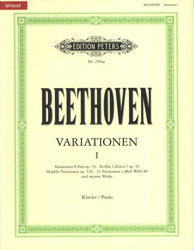 Variations pour Piano Volume 1 - BEETHOVEN - laflutedepan.com