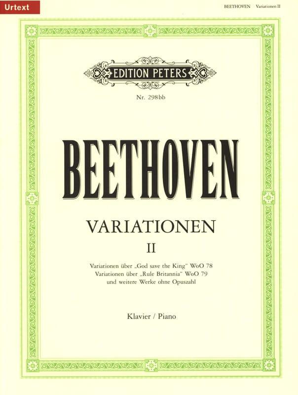 Variations pour Piano Volume 2 - BEETHOVEN - laflutedepan.com