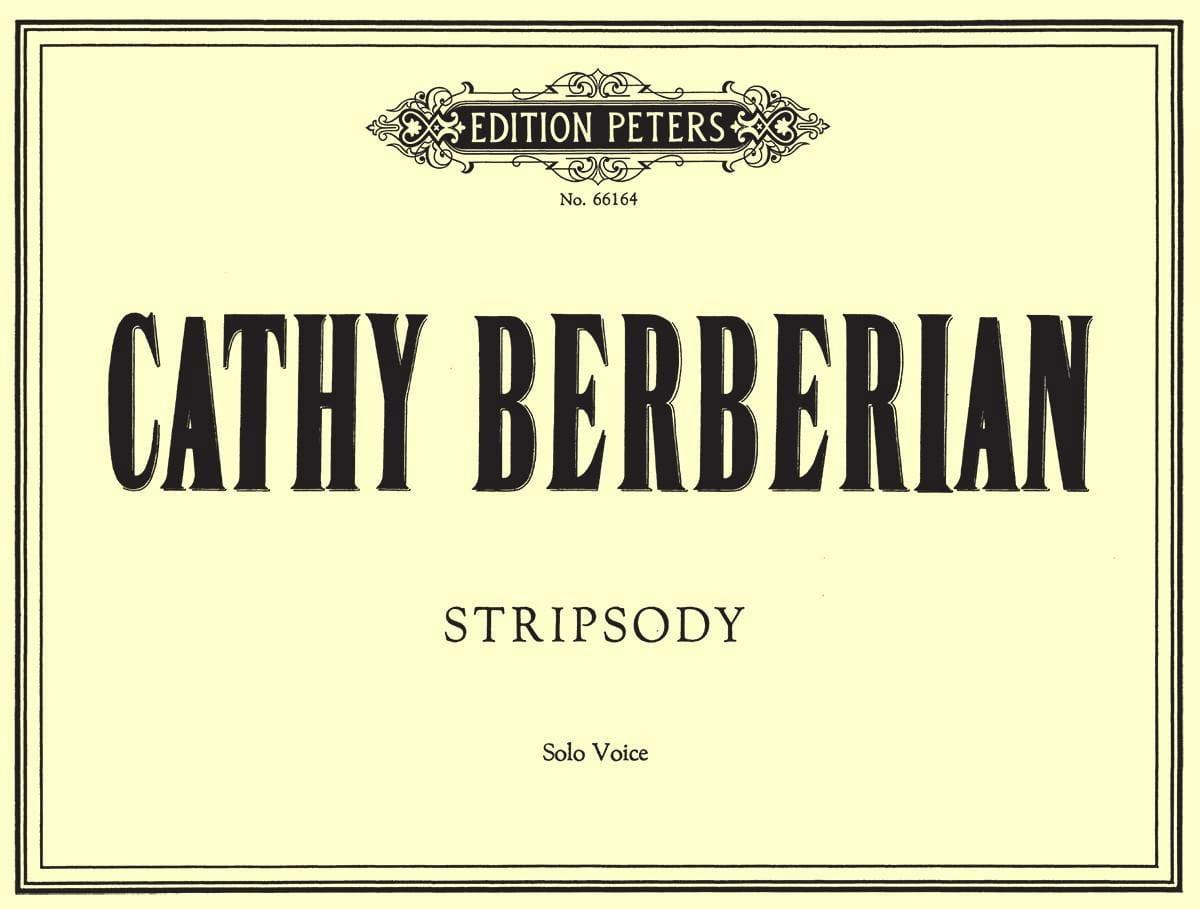 Stripsody. - Cathy Berberian - Partition - Mélodies - laflutedepan.com