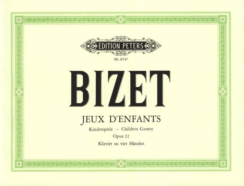BIZET - Juegos infantiles Opus 22. 4 manos - Partition - di-arezzo.es