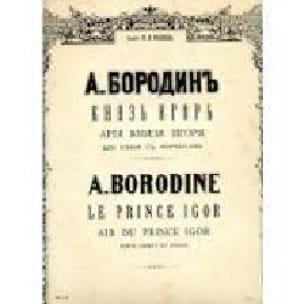 Air du Prince Igor - Alexandre Borodine - Partition - laflutedepan.com
