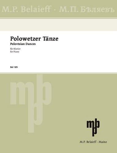 Alexandre Borodine - Polowetzer Tänze - Partition - di-arezzo.com