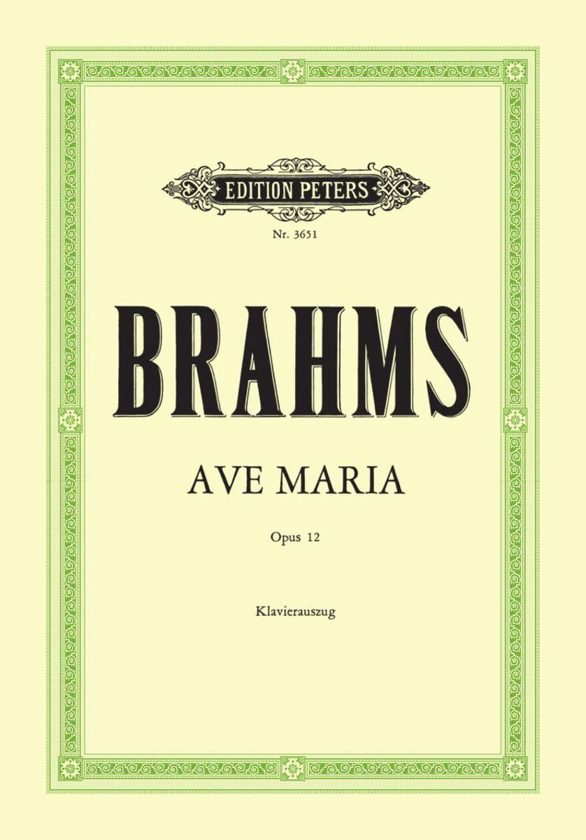 Ave Maria Opus 12 - BRAHMS - Partition - Chœur - laflutedepan.com