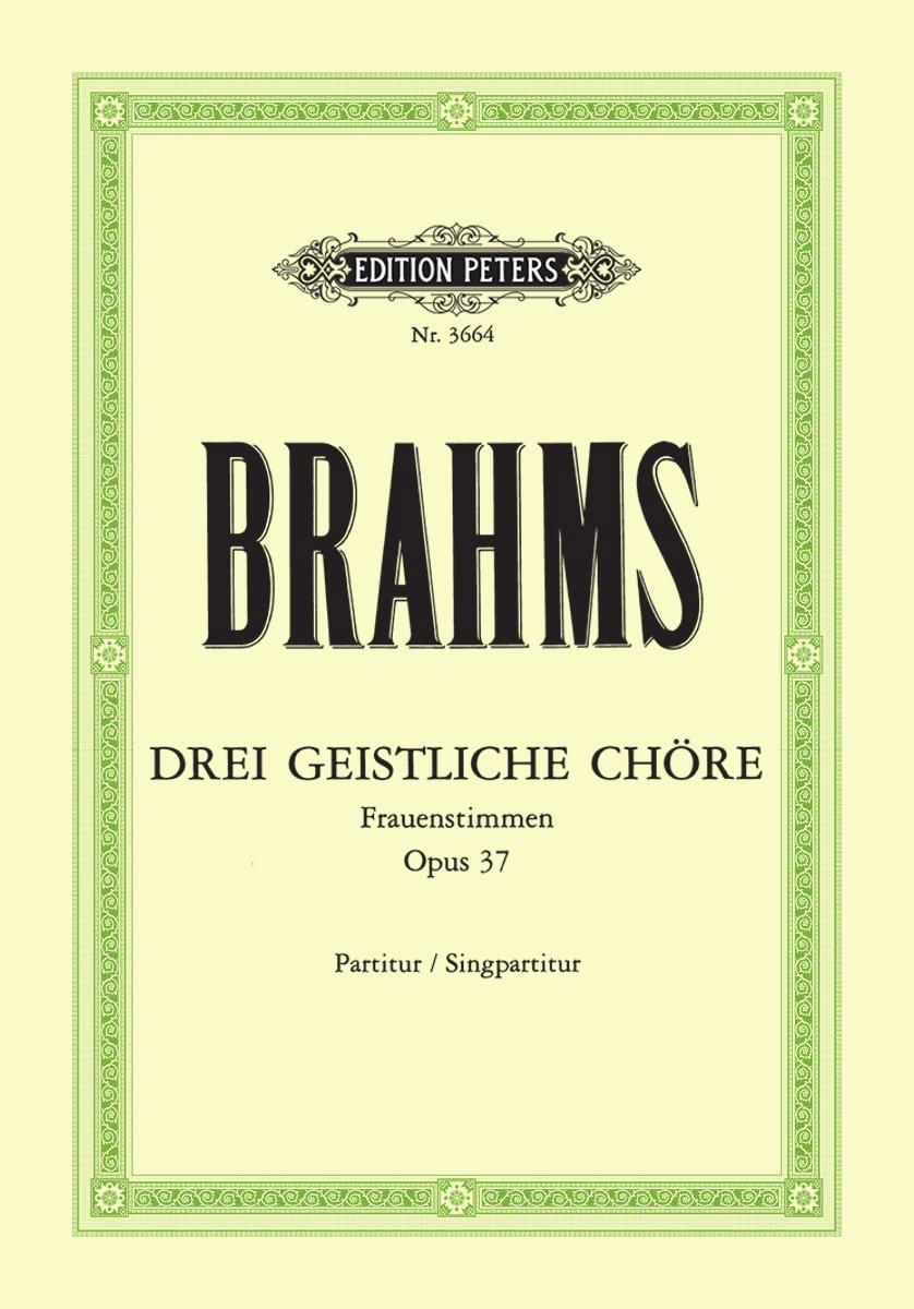 3 Geistliche Chöre Opus 37 - BRAHMS - Partition - laflutedepan.com