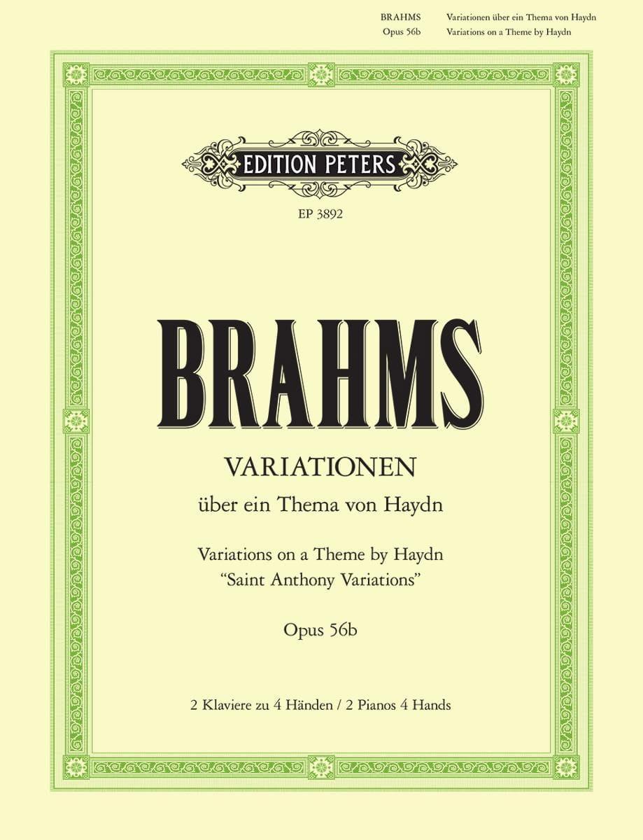 Variations sur 1 Thème de Haydn Opus 56b. 2 Pianos - laflutedepan.com