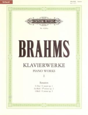 Oeuvres Pour piano Volume 1 - BRAHMS - Partition - laflutedepan.com