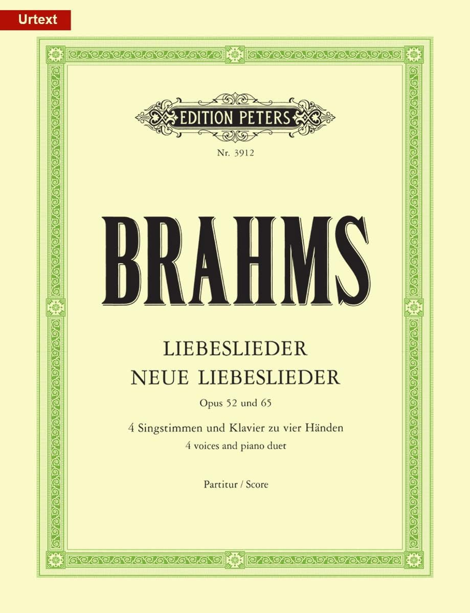 BRAHMS - Liebeslieder und neue Liebeslieder - Opus 52 and 65 - Partition - di-arezzo.co.uk