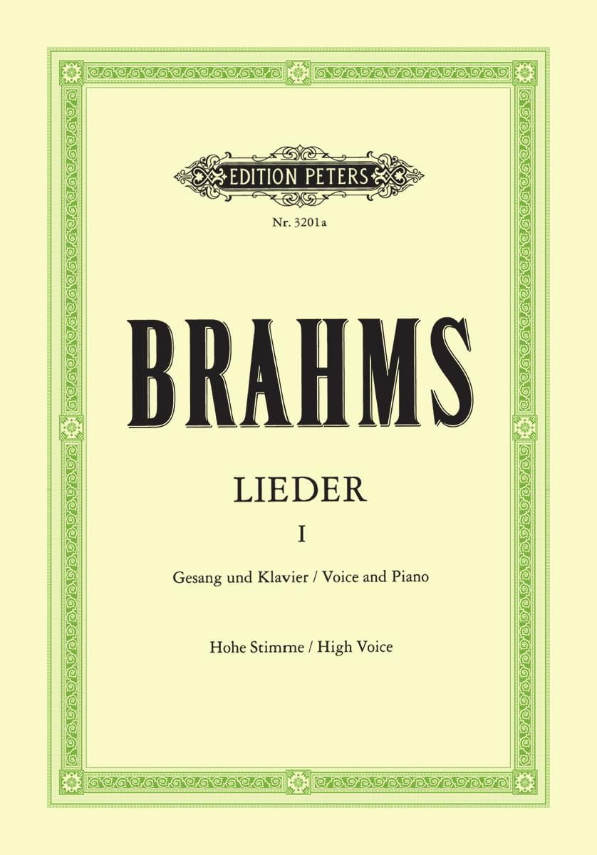 BRAHMS - Lieder Volume 1. High voice - Partition - di-arezzo.co.uk