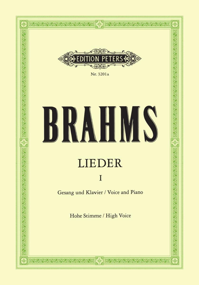 BRAHMS - Lieder Volume 1. High voice - Partition - di-arezzo.co.uk