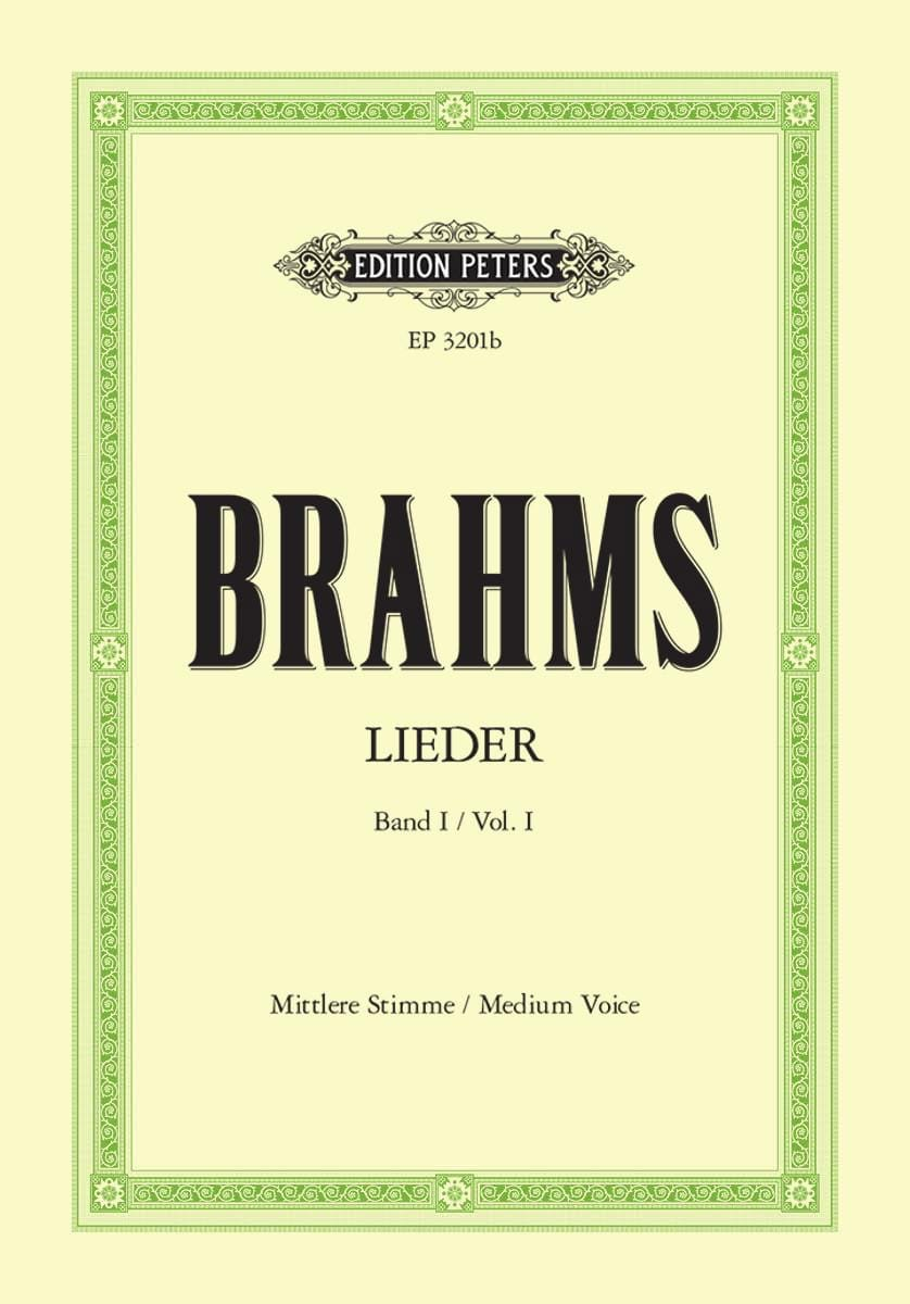 Lieder Volume 1. Voix Moyenne - BRAHMS - Partition - laflutedepan.com