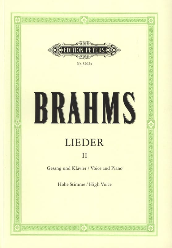 BRAHMS - Lieder Volume 2. High Voice - Partition - di-arezzo.co.uk