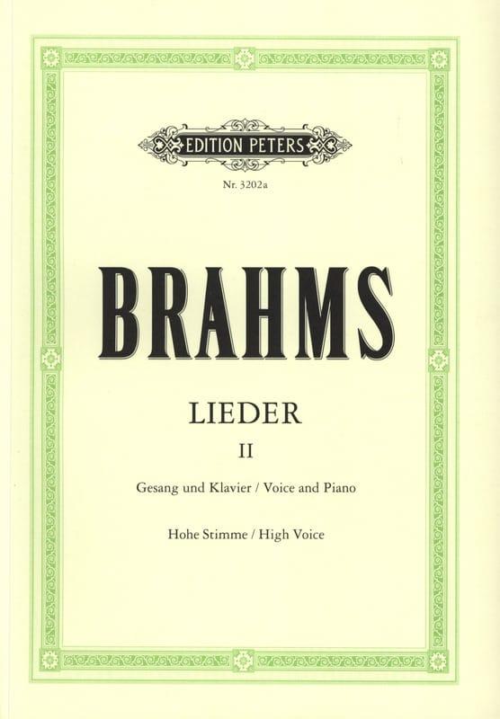Lieder Volume 2. Voix Haute - BRAHMS - Partition - laflutedepan.com
