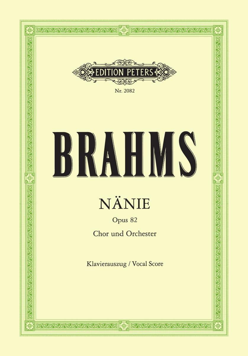 Nänie Opus 82 - BRAHMS - Partition - Chœur - laflutedepan.com