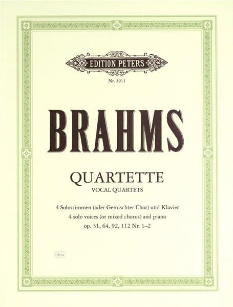 BRAHMS - Vocal Foursomes - Partition - di-arezzo.co.uk