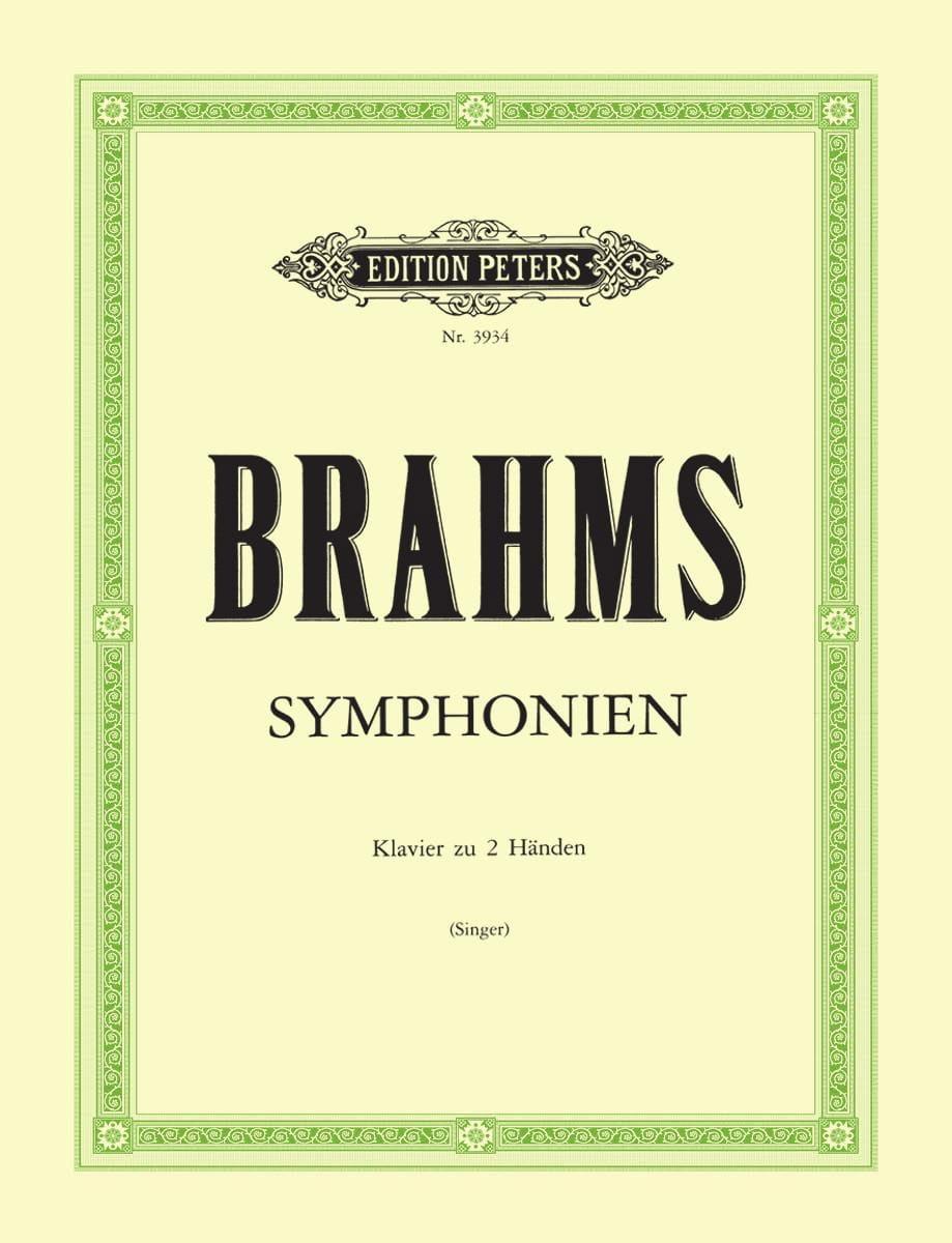 4 Symphonies - BRAHMS - Partition - Piano - laflutedepan.com