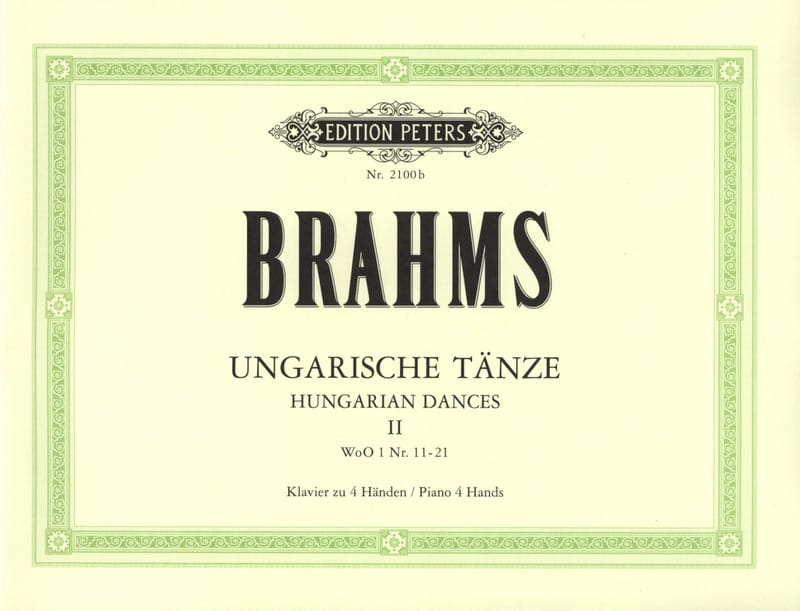 BRAHMS - Hungarian Dances Volume 2. 4 Hands - Partition - di-arezzo.co.uk