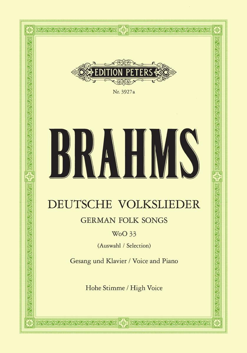Deutsche Volkslieder Woo 33. Voix Haute - BRAHMS - laflutedepan.com