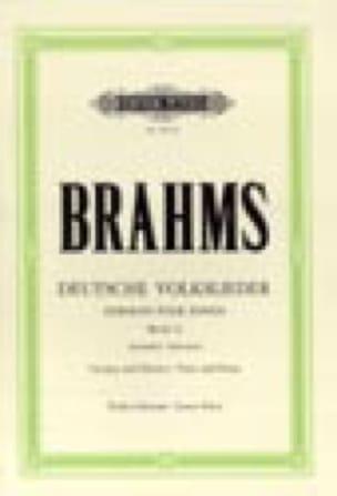 BRAHMS - Deutsche Volkslieder Grave Voice - Partition - di-arezzo.com
