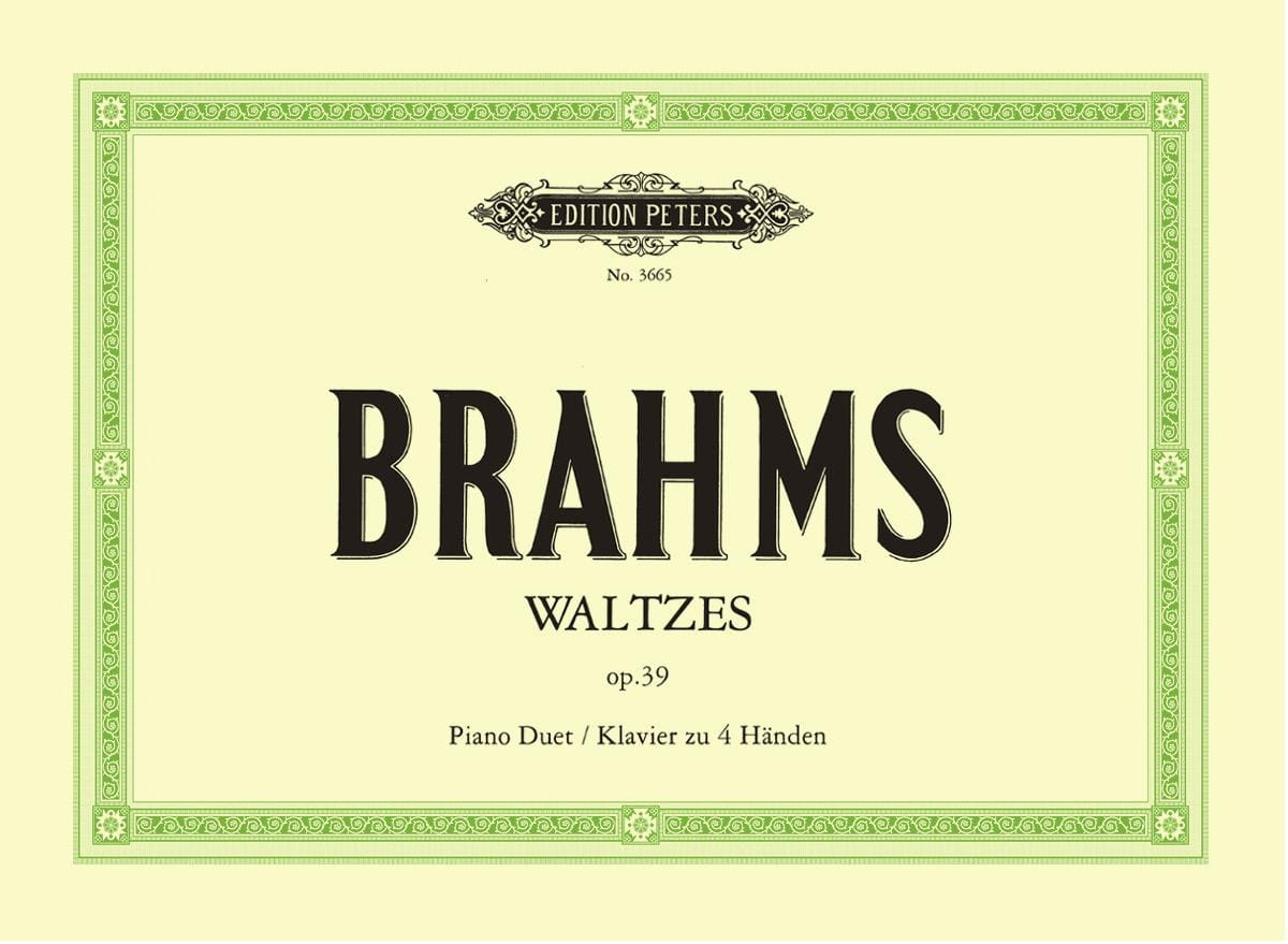 BRAHMS - Valses Opus 39. 4 Hands - Partition - di-arezzo.co.uk