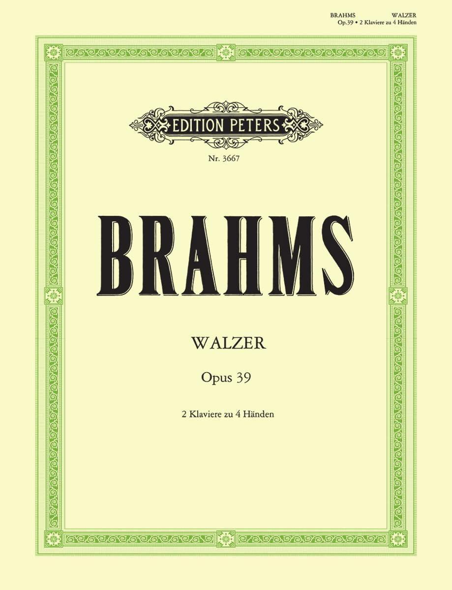 Walzer Opus 39. 2 Pianos - BRAHMS - Partition - laflutedepan.com