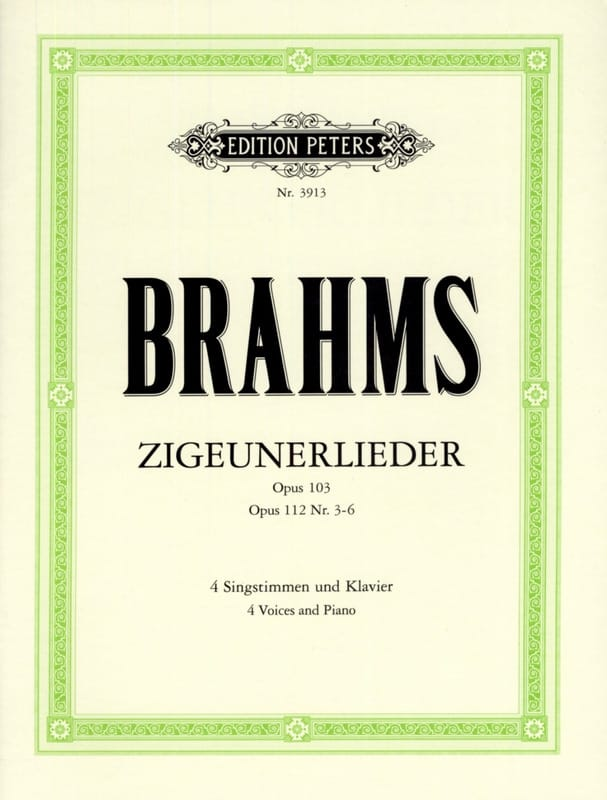BRAHMS - Zigeunerlieder Opus 103 and 112 3 A 6 - Partition - di-arezzo.co.uk