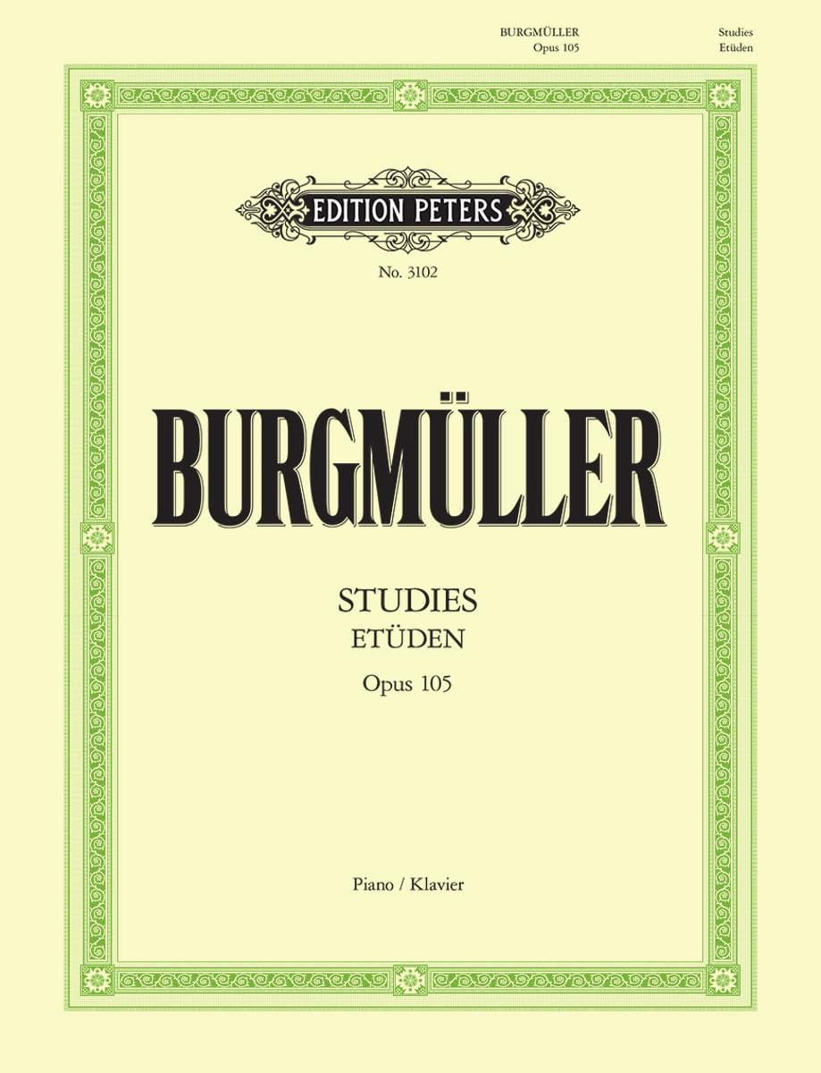 Frédéric Burgmuller - Brilliant and Melodic Studies. Opus 105 - Partition - di-arezzo.co.uk