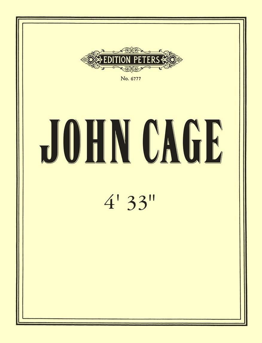 4'33'' - CAGE - Partition - Piano - laflutedepan.com