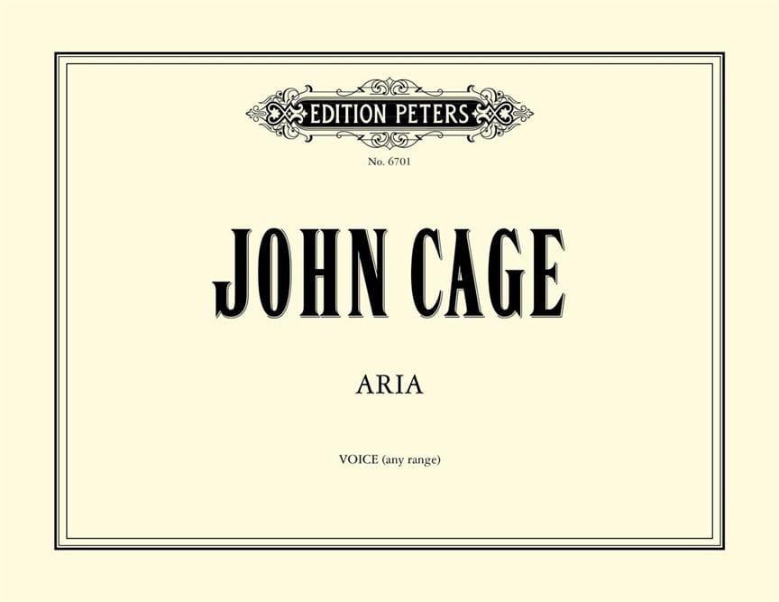 John Cage - Aria. - Partition - di-arezzo.com