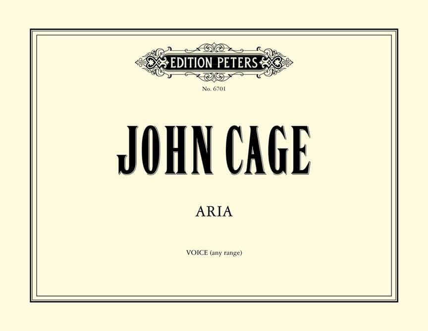 Aria. - CAGE - Partition - Mélodies - laflutedepan.com