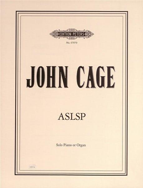 John Cage - ASLSP - Partition - di-arezzo.co.uk