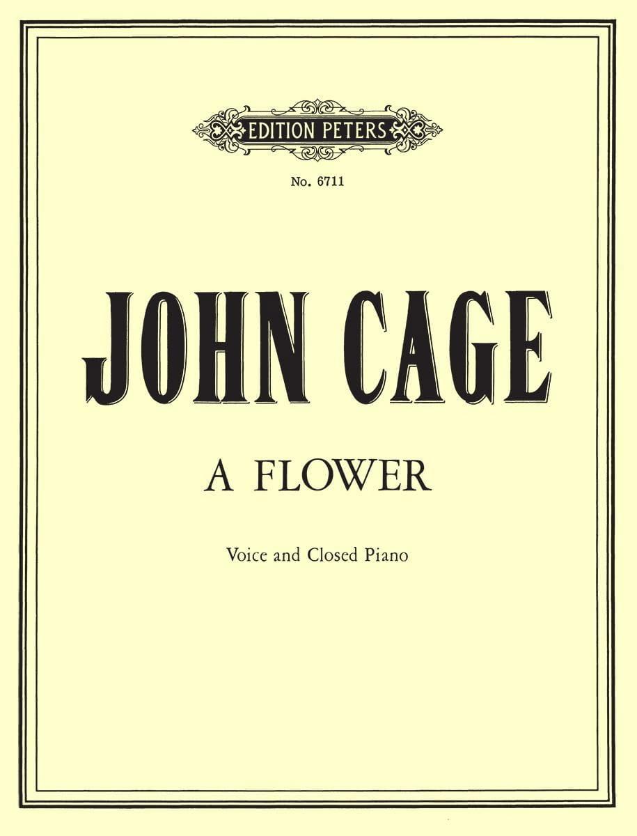 A Flower - CAGE - Partition - Mélodies - laflutedepan.com