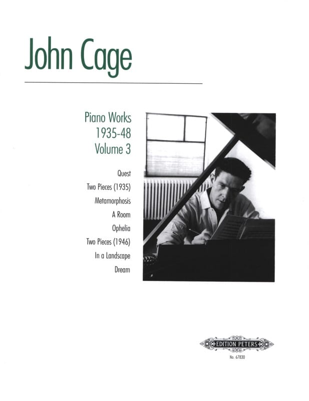 John Cage - Piano Works 1935-48 Volume 3 - Partition - di-arezzo.co.uk