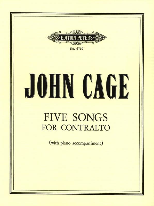 John Cage - 5 Songs - Partition - di-arezzo.com