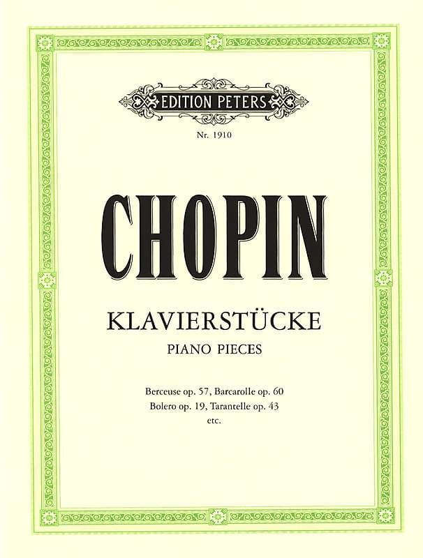 Klavierstücke - CHOPIN - Partition - Piano - laflutedepan.com
