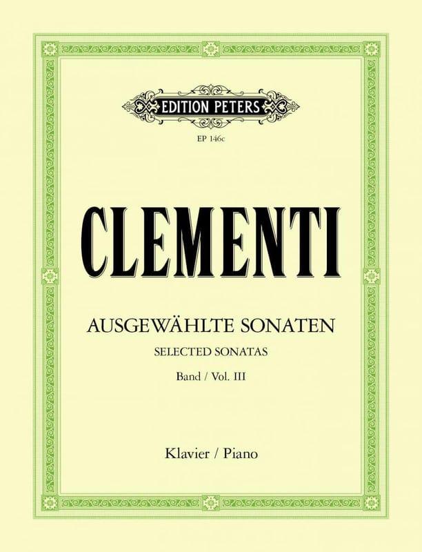 Muzio Clementi - Sonatas. Volumen 3 - Partition - di-arezzo.es