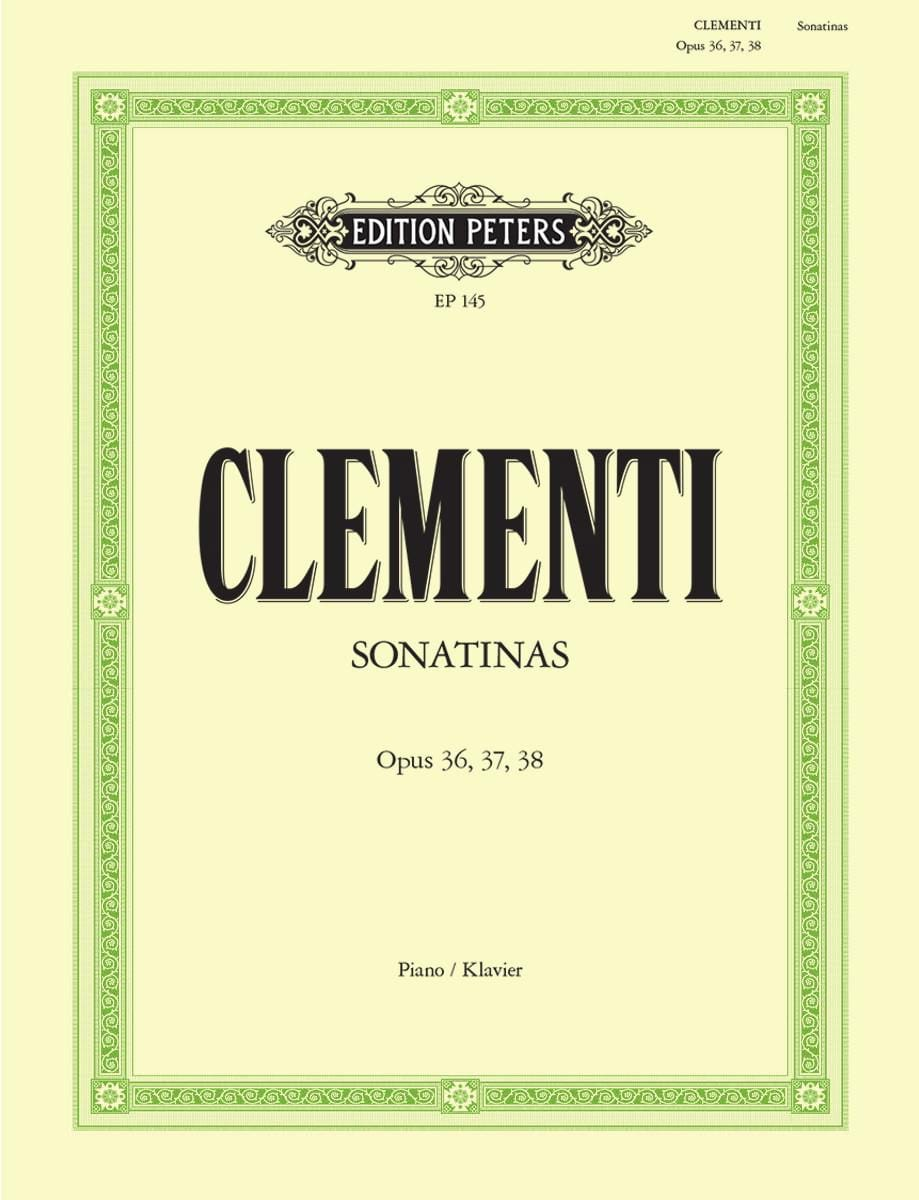 Muzio Clementi - Sonatines Opus 36, 37, 38 - Partition - di-arezzo.co.uk