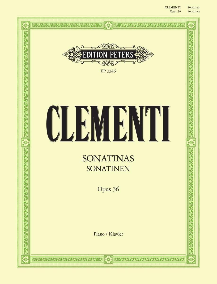 Muzio Clementi - Sonatines Opus 36 - Partition - di-arezzo.es