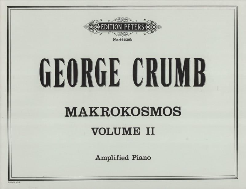 George Crumb - Makrokosmos. Volume 2 - Partition - di-arezzo.it