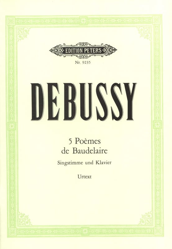DEBUSSY - 5 Poems of Baudelaire - Partition - di-arezzo.co.uk
