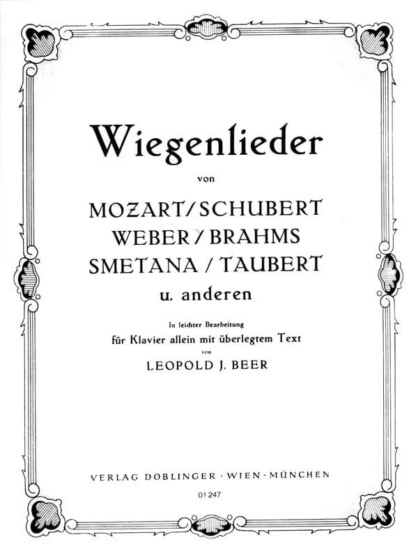 Wiegenlieder - Partition - Piano - laflutedepan.com