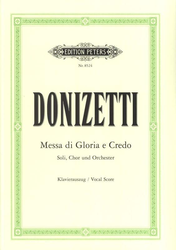 Missa di Gloria et Credo - DONIZETTI - Partition - laflutedepan.com